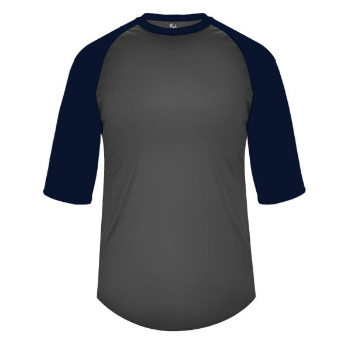 Badger Men's B-Baseball 3/4 Sleeve Shirt