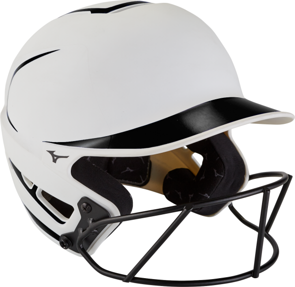 Mizuno F6 Youth Two-Tone Fastpitch Batting Helmet with Mask