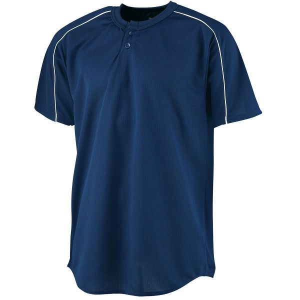 Augusta Youth Wicking Two-Button Baseball Jersey