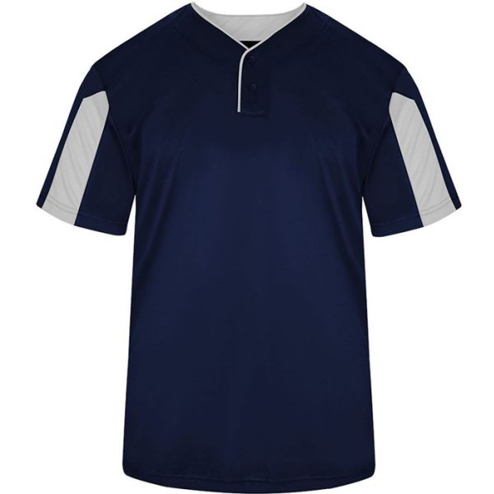 Badger Mens Striker Two-Button Baseball Jersey