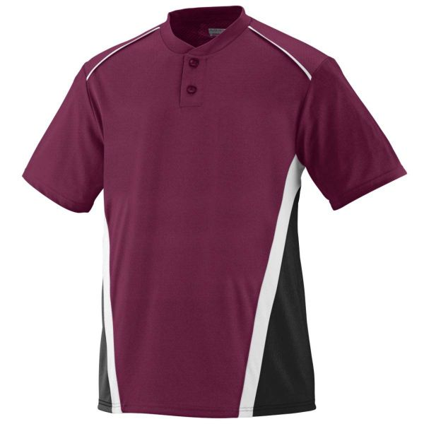 Augusta Adult RBI Two-Button Baseball Jersey