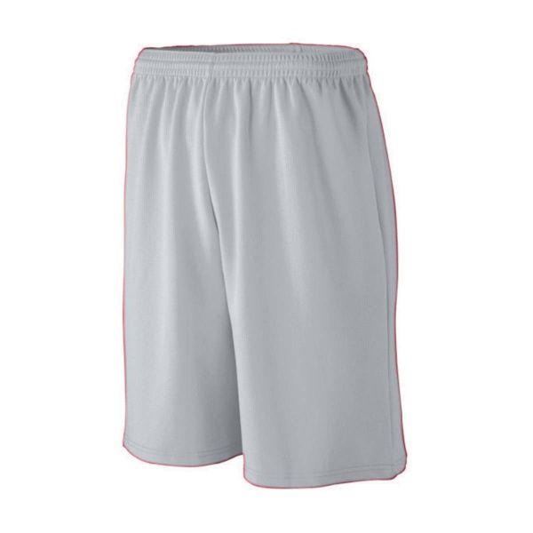 Augusta Youth Longer Length Wicking Mesh Athletic Shorts