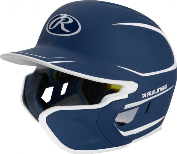 Rawlings Mach Two-Tone Matte Batting Helmet With EXT Flap