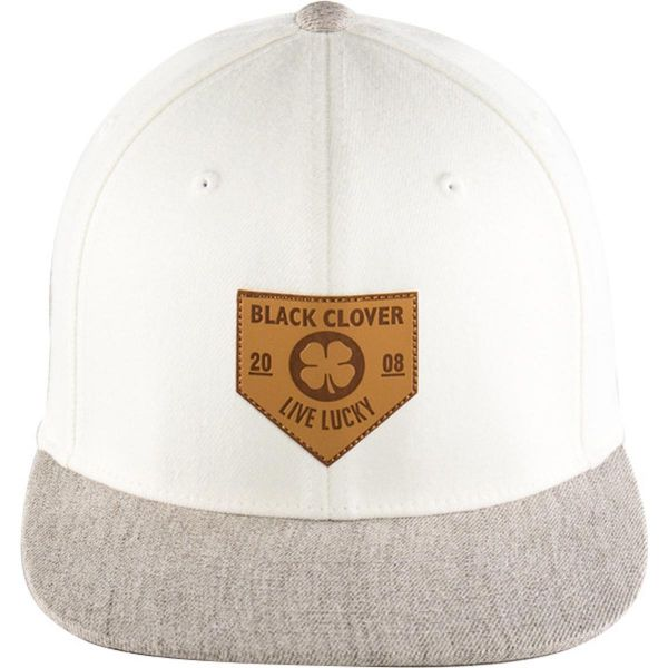 Rawlings Black Clover Leather Patch Flat Hat