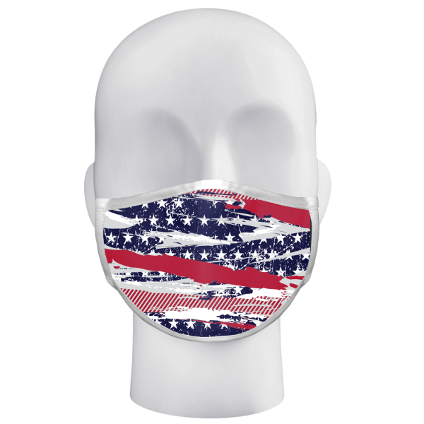 Alleson Flag Abstract Ad Spc 3Ply Face Mask