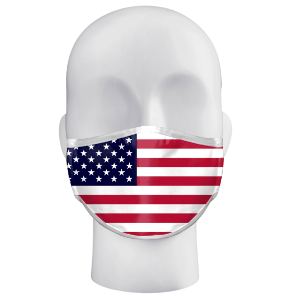 Alleson Flag Adult Single Pc 3Ply Face Mask