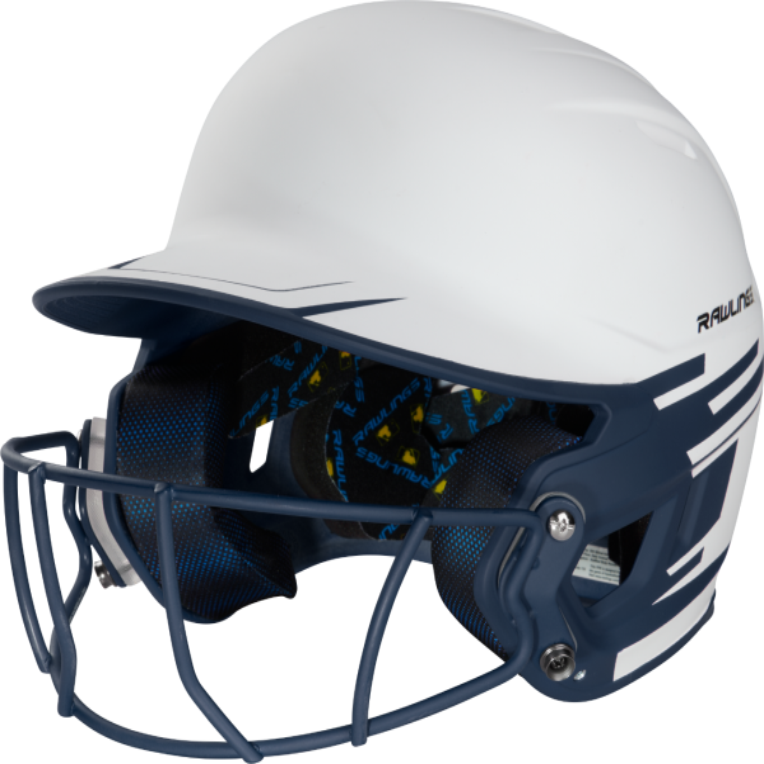 Rawlings JR Mach Ice Fastpitch Soft Ball Batting Helmet w/Face Guard