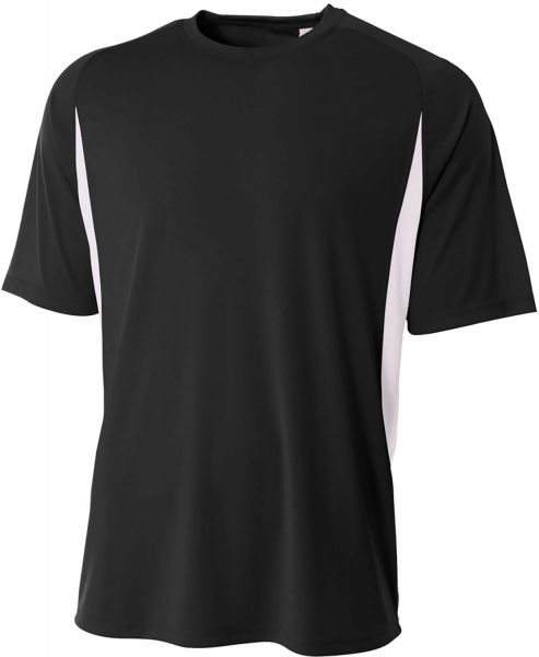 A4 Adult Cooling Performance ColorBlock Short Sleeve Shirt