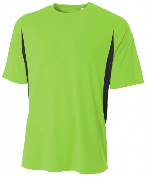 A4 Youth Short Sleeve Color Block Crew Shirt
