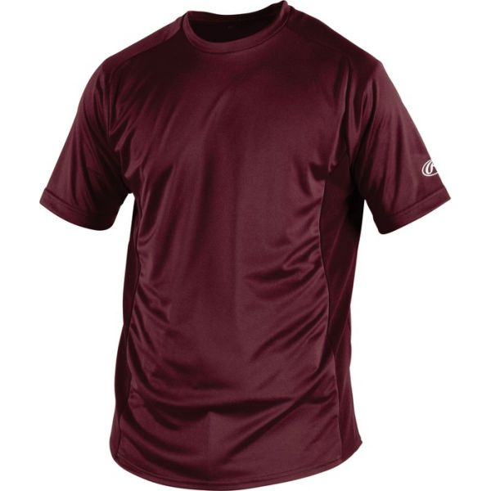 Rawlings Youth Crew Neck Short Sleeve ProDri Shirt