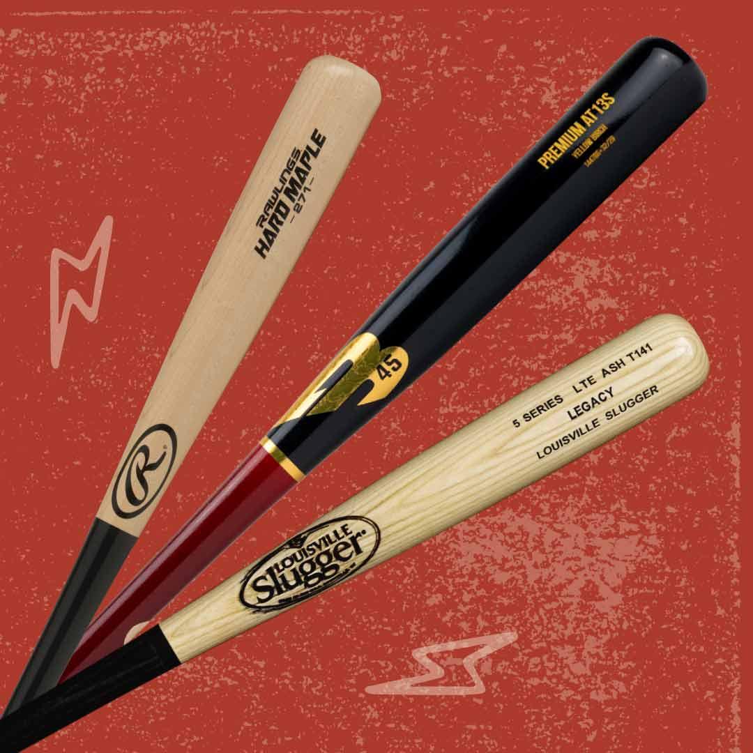 Wood Baseball Bats By Brand